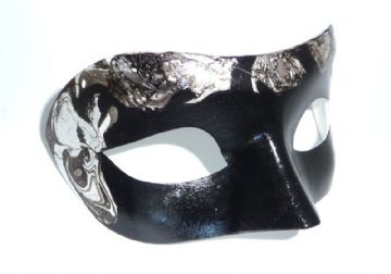 Genuine Venetian Exclusive Black & Gold Eye Mask